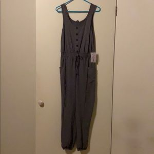 New j for justify romper gray overall